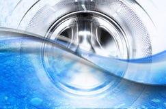 À l'intérieur d'un lavage Maschine images libres de droits