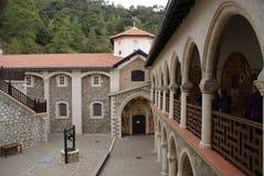 à l'intérieur d'un monastère de KIKOS Image stock