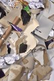 À l'intérieur d'un récipient de réutilisation de papier Images stock
