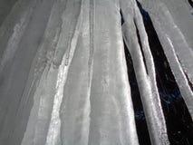 À l'intérieur d'un rideau des glaçons 2 images stock