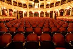À l'intérieur d'un vieux théâtre Photographie stock libre de droits