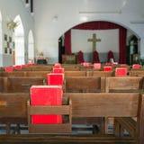 À l'intérieur d'une église Photo stock
