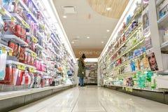 À l'intérieur d'une pharmacie Photographie stock libre de droits
