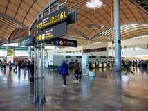 À l'intérieur de l'aéroport d'Alicante l'espagne Photo libre de droits