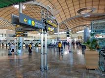 À l'intérieur de l'aéroport d'Alicante l'espagne Photos libres de droits