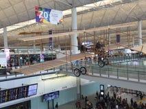 À l'intérieur de l'aéroport de Hong Kong, Chek Lap Kok Airport photo libre de droits