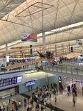 À l'intérieur de l'aéroport de Hong Kong, Chek Lap Kok Airport photo stock