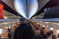 À l'intérieur de Boeing 737-800 Image stock