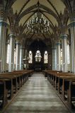 À l'intérieur de d'une église Photo stock