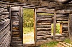 À l'intérieur de de la cabine de logarithme naturel d'un mineur Photos libres de droits