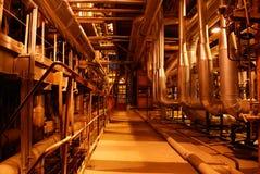 À l'intérieur de de la centrale de courant électrique Photos stock