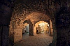 À l'intérieur de des bains de Khan dans la forteresse Naryn-Kala de Sassanid dans la ville de Derbent, République de Dagestan photographie stock libre de droits