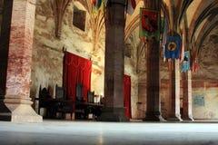 À l'intérieur de du château du `s de Huniazilor Photographie stock
