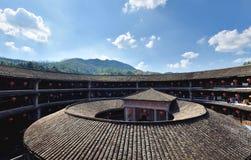 À l'intérieur de du constrcture de château de la terre, au sud de la Chine Photo stock