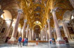 À l'intérieur de du della Santissima Annunziata del Vastato de basilique de Gênes l'Italie Ligurie image stock