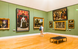 À l'intérieur de du musée de Louvre Images libres de droits