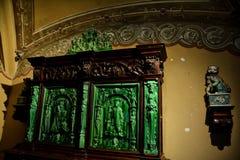 À l'intérieur de du palais de Pena dans Sintra, secteur de Lisbonne, Portugal Détail de meubles Images libres de droits