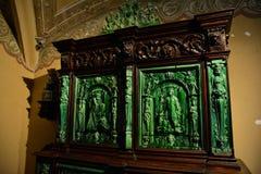 À l'intérieur de du palais de Pena dans Sintra, secteur de Lisbonne, Portugal Détail de meubles Photographie stock