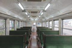 À l'intérieur de du véhicule ferroviaire Images libres de droits