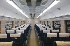À l'intérieur de du véhicule ferroviaire Photographie stock