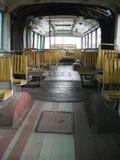 À l'intérieur de du vieil autobus Images stock
