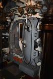 À l'intérieur de l'espace à l'etroit d'USS Pompanito, SS-383, 3 Photos stock
