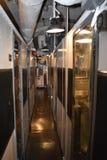 À l'intérieur de l'espace à l'etroit d'USS Pompanito, SS-383, 4 Image stock