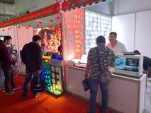 À l'intérieur de l'exposition des imprimantes et des matériaux d'impression - Hanoï, le Vietnam le 21 mars 2018 photographie stock