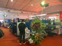 À l'intérieur de l'exposition des imprimantes et des matériaux d'impression - Hanoï, le Vietnam le 21 mars 2018 images libres de droits