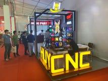 À l'intérieur de l'exposition des imprimantes et des matériaux d'impression - Hanoï, le Vietnam le 21 mars 2018 images stock
