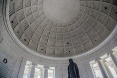 À l'intérieur de Jefferson Memorial images stock