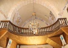 À l'intérieur de l'église de Saint Julien, Nespouls, Correze, Limousin, France images libres de droits
