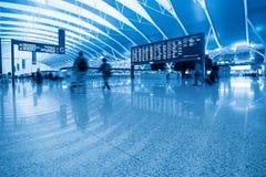 À l'intérieur de l'aéroport Photo libre de droits