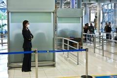 À l'intérieur de l'aéroport international de Suvarnabhumi Image libre de droits