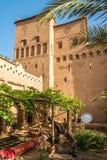 À l'intérieur de l'Amridil Kasbah à l'oasis de Skoura au Maroc Photos stock