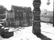 À l'intérieur de l'Angkor Vat Image libre de droits