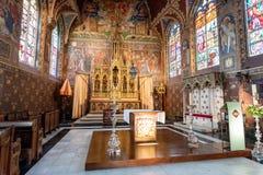 À l'intérieur de la basilique du sang saint Bruegge en Belgique photos libres de droits