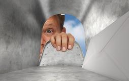 À l'intérieur de la boîte aux lettres Images libres de droits
