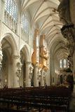 À l'intérieur de la cathédrale à Bruxelles, la Belgique photo stock