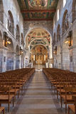À l'intérieur de la cathédrale Images libres de droits