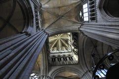 À l'intérieur de la cathédrale de Frances de Rouen Photo stock