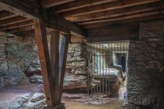 À l'intérieur de la cave de l'amphithéâtre romain photographie stock libre de droits