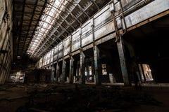 À l'intérieur de la centrale abandonnée Photos libres de droits