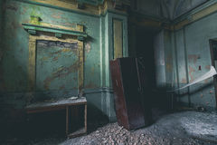 À l'intérieur de la centrale abandonnée Photo libre de droits
