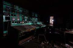 À l'intérieur de la centrale abandonnée Photo stock