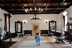 À l'intérieur de la forteresse de Fagaras, comté de Brasov Photo stock