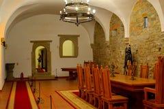 À l'intérieur de la forteresse de Fagaras, comté de Brasov Photos stock