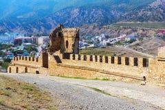 À l'intérieur de la forteresse Genovese Photo stock