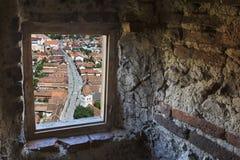 À l'intérieur de la forteresse de Rasnov, Transylvanie, Roumanie images stock