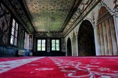 À l'intérieur de la mosquée décorée, Macédoine, Tetovo Photos stock